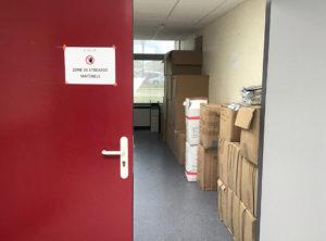 Zone de stockage de matériels AQUILOÉ.