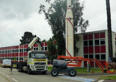 Démantèlement de fusée par BDS à St Médard en Jalles (33)